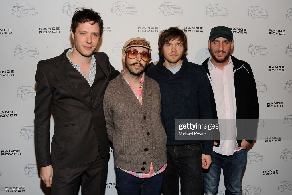 Musicians Damian Kulash, Tim Nordwind, Andy Ross, Dan Konopka of OK GO arrives at the Range Rover Evoque VIP launch party at Cecconi's Restaurant on November 16, 2010 in Los Angeles, California.
