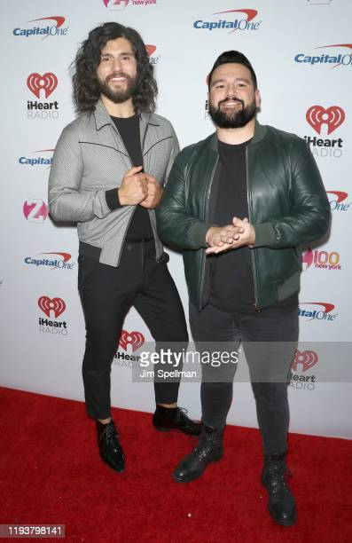 Musicians Dan Smyers and Shay Mooney arrive at iHeartRadio's Z100 Jingle Ball 2019 at Madison Square Garden on December 13 2019 in New York City