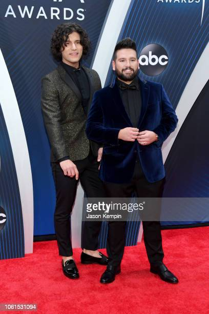 Musicians Dan Smyers and Shay Mooney of Dan Shay attend the 52nd annual CMA Awards at the Bridgestone Arena on November 14 2018 in Nashville Tennessee