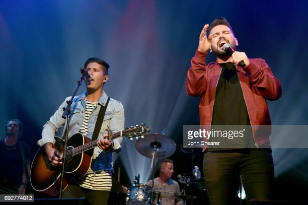 Musicians Dan Smyers and Shay Mooney of Dan Shay performs onstage during the 8th annual Darius Friends concert to benefit St Jude's Children's...