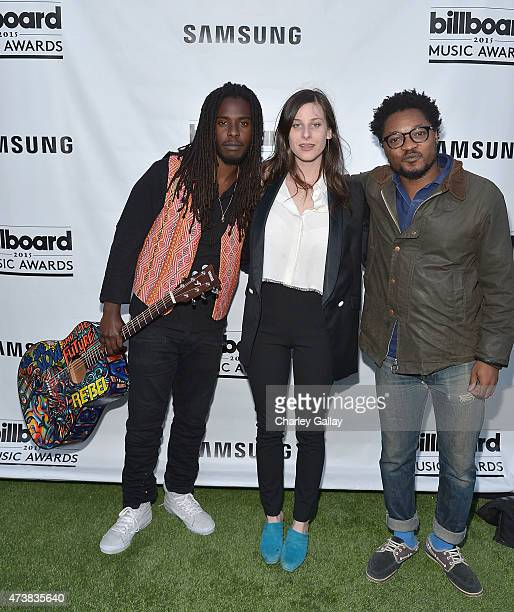 Musicians Daniel Marley Sasha Spielberg and Theo Spielberg of the band Wardell attend Samsung Home Appliances Hosts Billboard Music Awards Viewing...