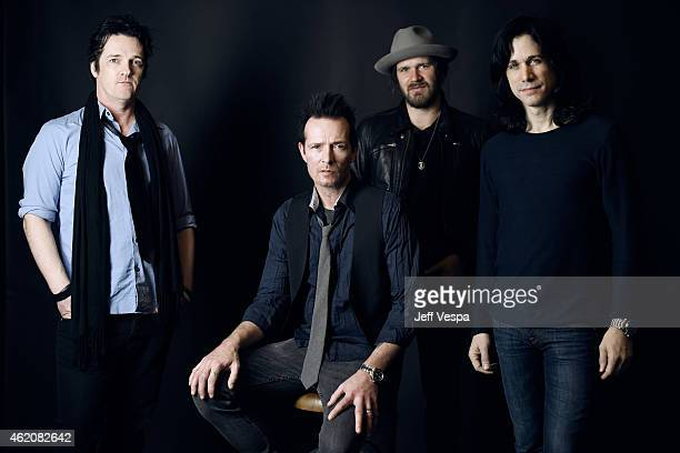 Musicians Danny Thompson Jeremy Brown Scott Weiland and Tommy Black pose for a portrait at the Village at the Lift Presented by McDonald's McCafe...