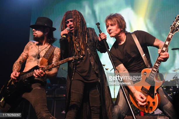 Musicians Dave Navarro, Al Jourgensen and Billy Morrison perform onstage during the second annual Above Ground concert benefiting MusiCares at The...