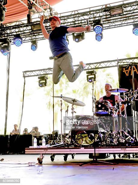 Musicians Dave Quackenbush and Josh Freese of The Vandals perform onstage during day 3 of the 2016 Coachella Valley Music Arts Festival Weekend 2 at...