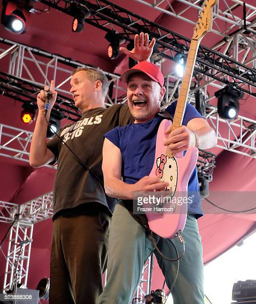 Musicians Dave Quackenbush and Warren Fitzgerald of The Vandals perform onstage during day 3 of the 2016 Coachella Valley Music Arts Festival Weekend...