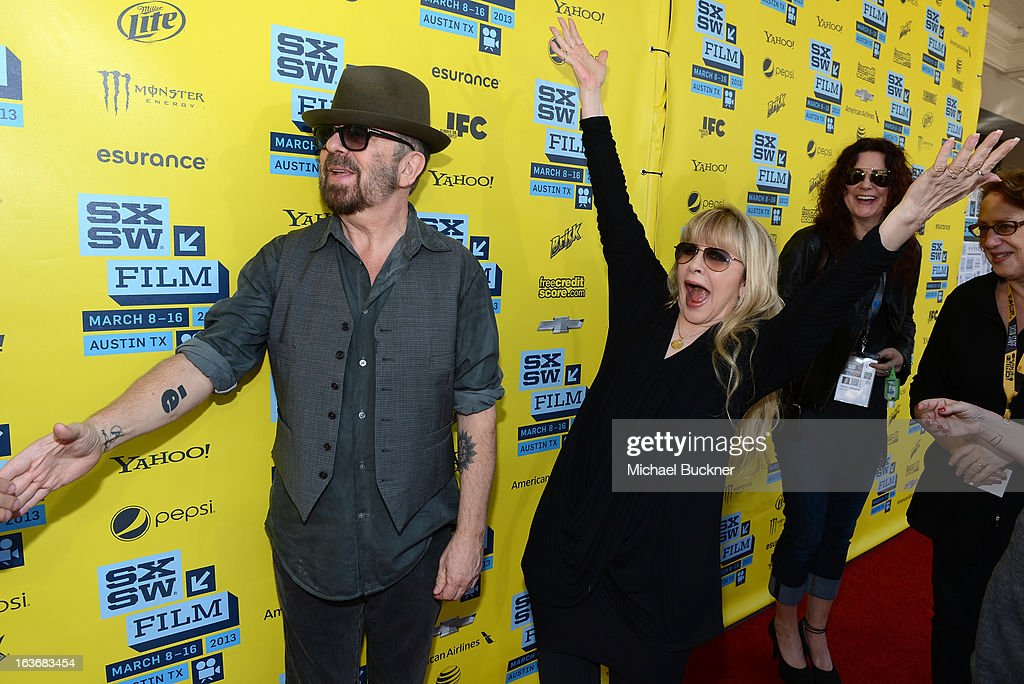 Musicians Dave Stewart (L) and Stevie Nicks arrive at the screening of 'In Your Dreams:Stevie Nicks' during the 2013 SXSW Music, Film + Interactive Festival at the Paramount Theatre on March 14, 2013 in Austin, Texas.