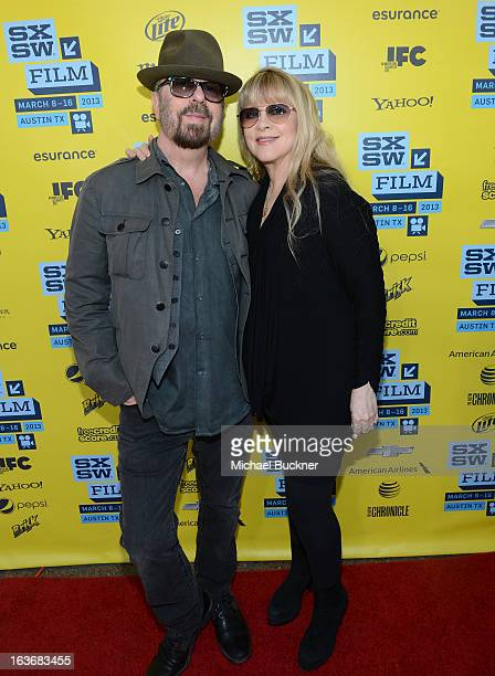 Musicians Dave Stewart and Stevie Nicks arrive at the screening of 'In Your DreamsStevie Nicks' during the 2013 SXSW Music Film Interactive Festival...