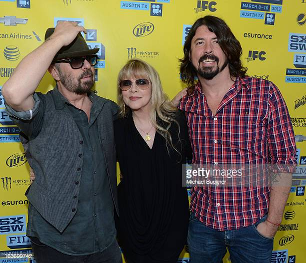 Musicians Dave Stewart Stevie Nicks and Dave Grohl arrive at the screening of 'In Your DreamsStevie Nicks' during the 2013 SXSW Music Film...