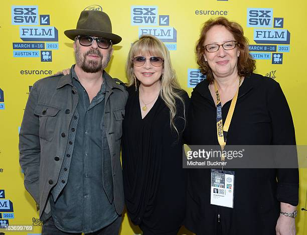 Musicians Dave Stewart Stevie Nicks and Janet Pierson Producer SXSW arrive at the screening of 'In Your DreamsStevie Nicks' during the 2013 SXSW...