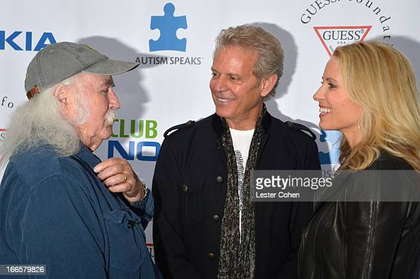 Musicians David Crosby and Don Felder and Kathrin Nicholson arrive at Light Up The Blues Concert An Evening of Music To Benefit Autism Speaks at Club...
