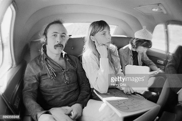Musicians David Crosby Joni Mitchell and Graham Nash travel to Big Bear Lake