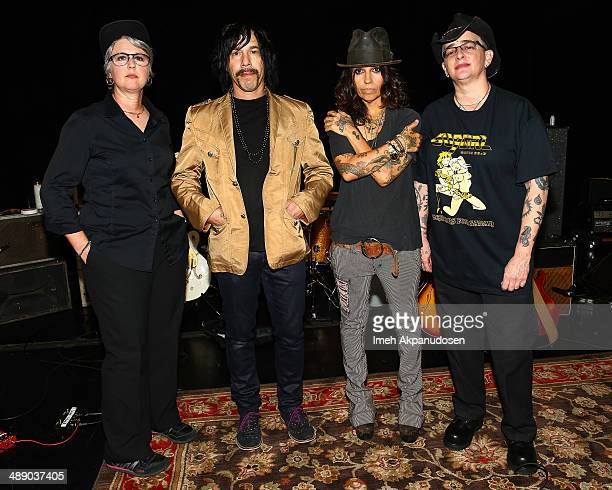 Musicians Dawn Ricardson Roger Rocha Linda Perry and Christa Hillhouse of 4 Non Blondes pose before performing an intimate rehearsal session on May 9...