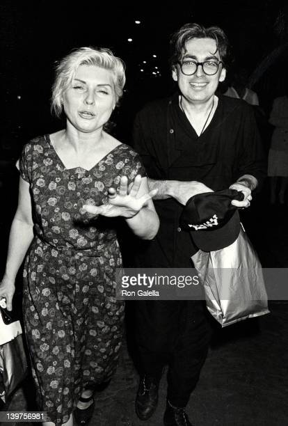 Musicians Debbie Harry and Chris Stein attend the premiere party for 'Midnight Run' on July 11 1987 at Greene Street Cafe in New York City