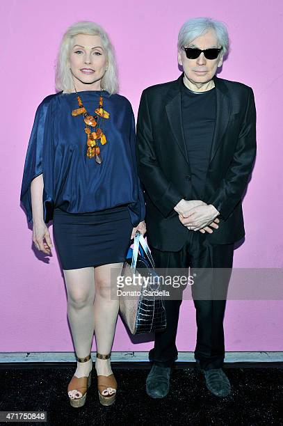Musicians Debbie Harry and Chris Stein of Blondie attend the Photography Exhibition at Paul Smith LA on April 30 2015 in Los Angeles California