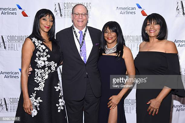 Musicians Debbie Sledge Charles Feldman Joni Sledge and Kim Sledge attend Songwriters Hall Of Fame 47th Annual Induction And Awards at Marriott...
