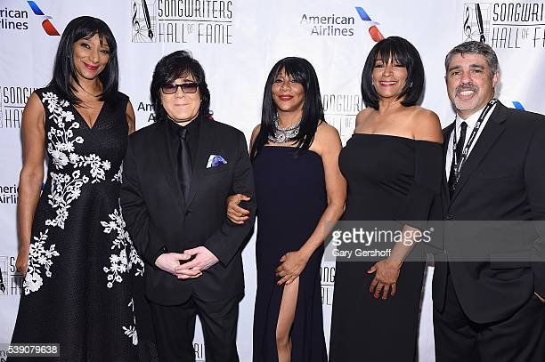 Musicians Debbie Sledge John Titta Joni Sledge Kim Sledge and Radio Producer Gary DellAbate attend Songwriters Hall Of Fame 47th Annual Induction And...