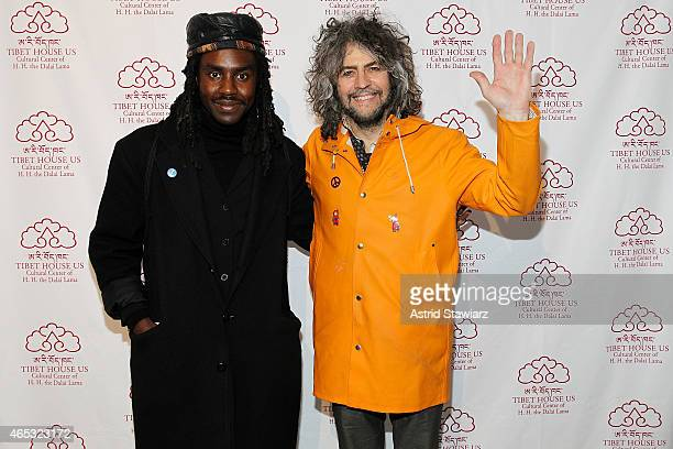 Musicians Dev Hynes and Wayne Coyne attend Tibet House Benefit Concert After Party 2015 at Metropolitan West on March 6 2015 in New York City
