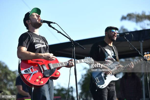 Musicians Devin Morrison and Chiquis Lozoya of The Expanders perform onstage during day 2 of the One Love Cali Reggae Festival at The Queen Mary on...