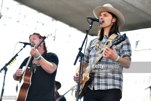Musicians Devon Allman and Duane Betts sons of Allman Brothers founders Gregg Allman and Dickey Betts perform onstage during the Simi Valley Cajun...