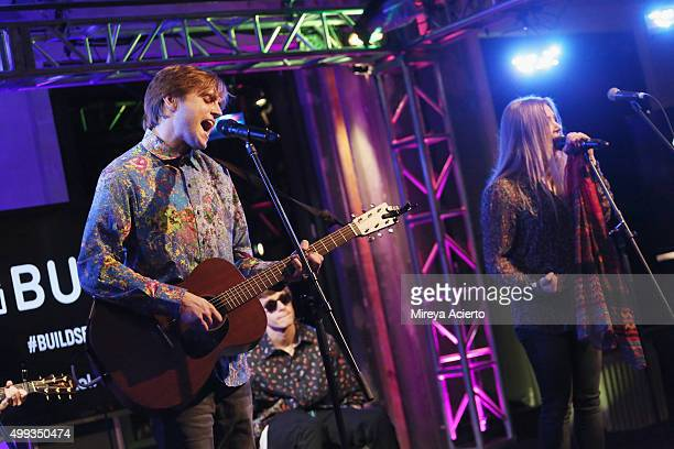 Musicians Dez Money, Julian Money and Jesse Money perform during AOL Build at AOL Studios on November 30, 2015 in New York City.