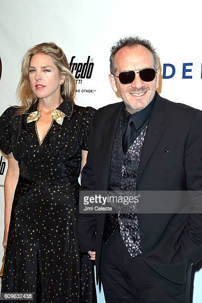 Musicians Diana Krall and Elvis Costello attending Friars Club Honors Martin Scorsese with Entertainment Icon Award at Cipriani Wall Street on...