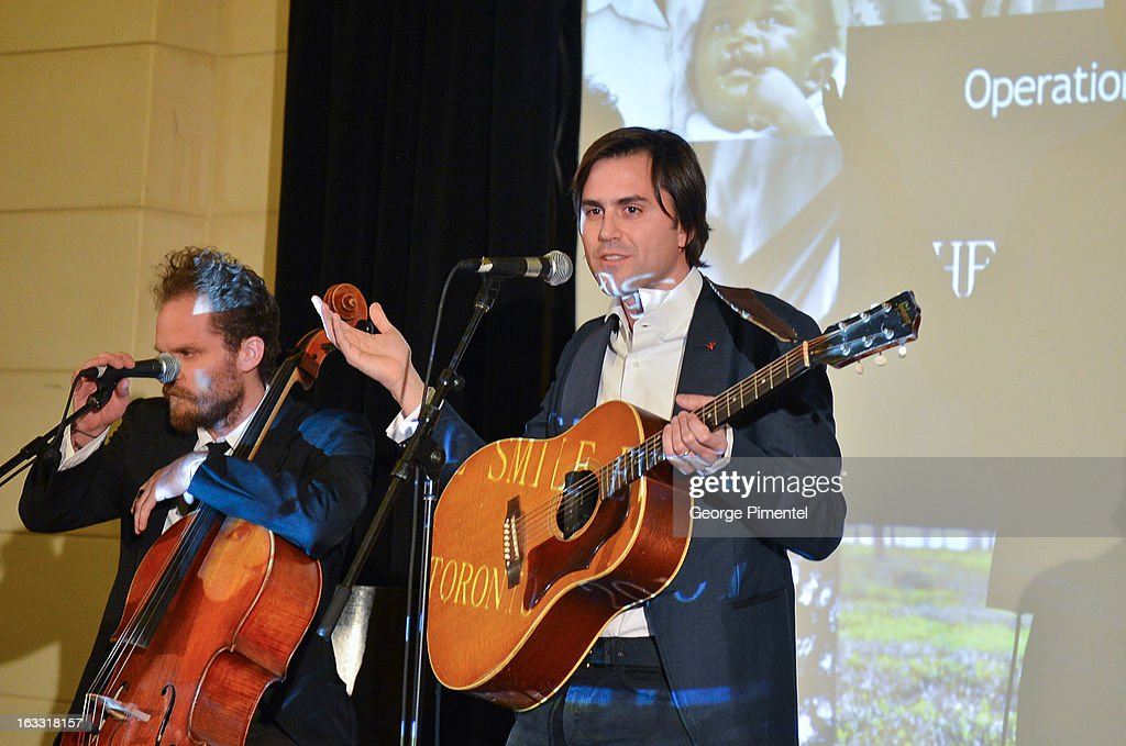 Musicians Diego Garcia and Danny Bensi attend Operation Smile's Toronto Smile Event at Windsor Arms Hotel on March 7, 2013 in Toronto, Canada.