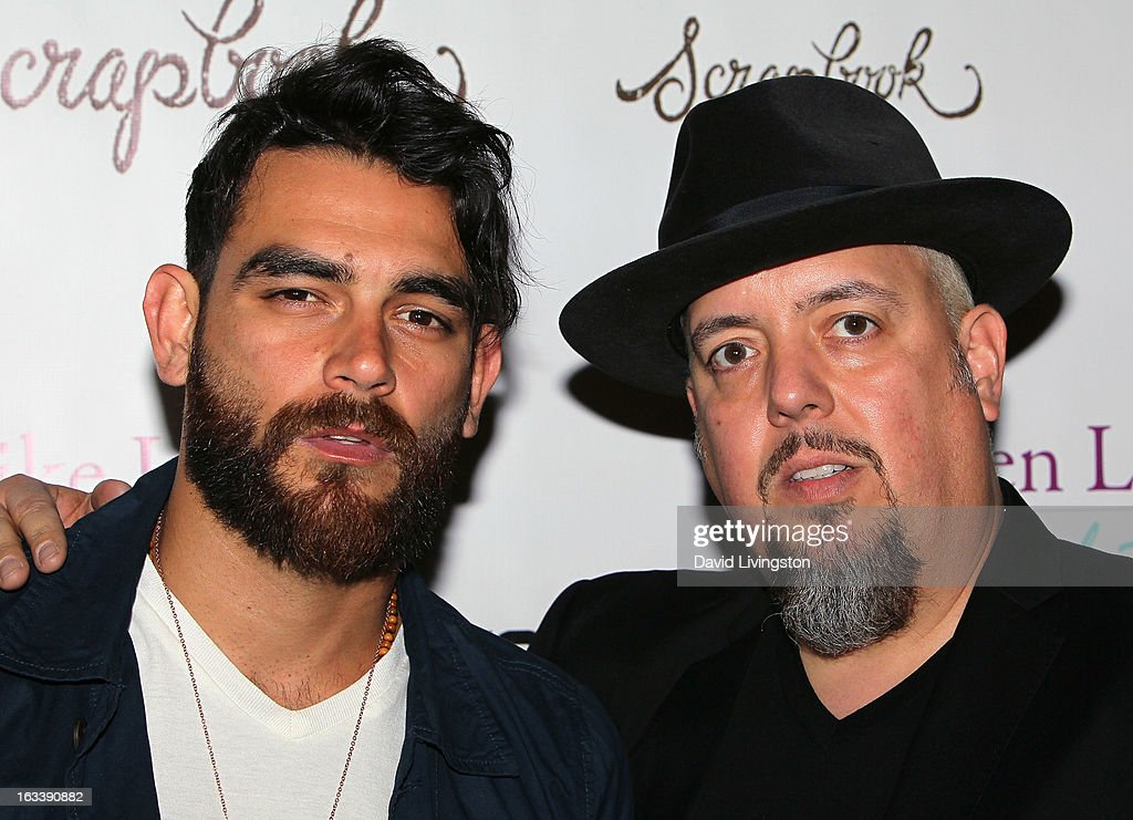 Musicians Diego Val (L) and George Pajon Jr. of Sons of Mariel attend a Pre-LAFW benefit in support of the Women Like Us Foundation at Lexington Social House on March 8, 2013 in Hollywood, California.