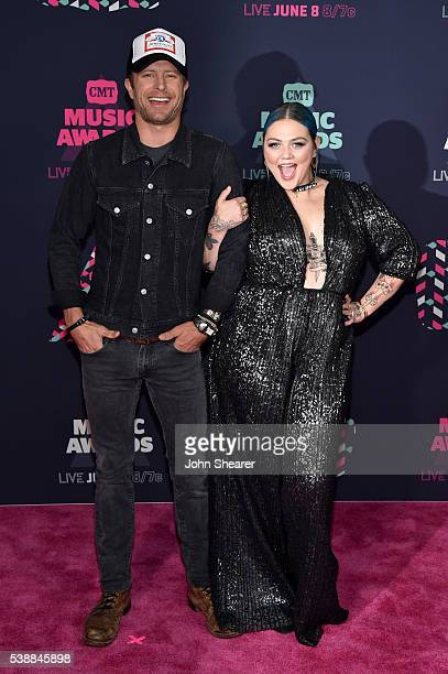 Musicians Dierks Bentley and Elle King attend the 2016 CMT Music awards at the Bridgestone Arena on June 8 2016 in Nashville Tennessee