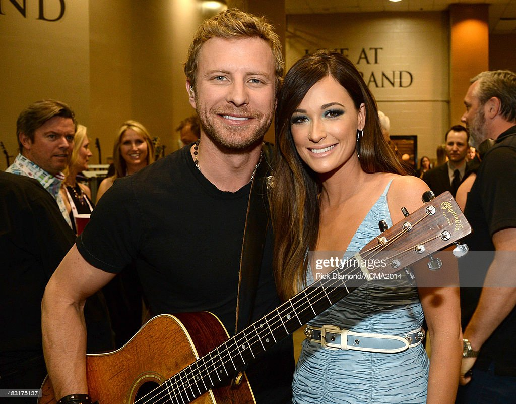 Musicians Dierks Bentley (L) and Kacey Musgraves attend the 49th Annual Academy of Country Music Awards at the MGM Grand Garden Arena on April 6, 2014 in Las Vegas, Nevada.