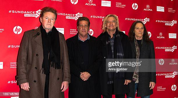 """Musicians Don Henley, Glenn Frey, Joe Walsh and Timothy B. Schmit of The Eagles arrive to the """"History of the Eagles"""" Premiere - 2013 Park City on..."""