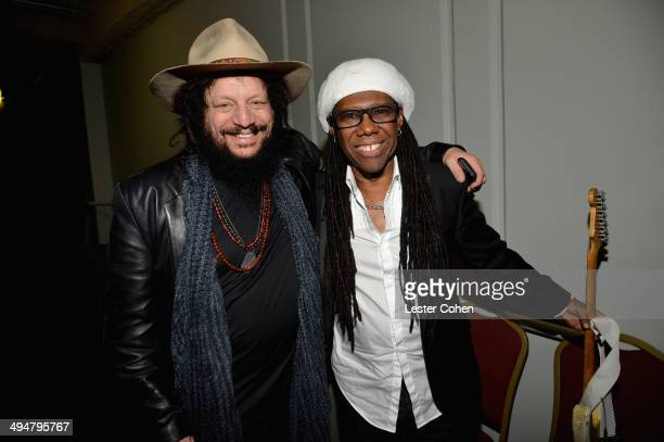 Musicians Don Was and Nile Rodgers attend A Conversation About the 56th GRAMMYS And Beatles Show at Leonard H Goldenson Theatre on May 30 2014 in...