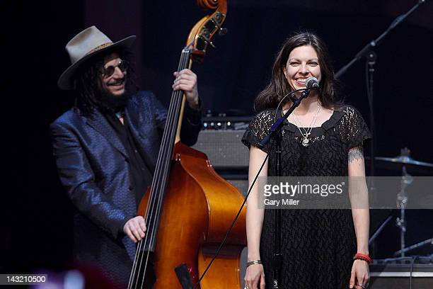 Musicians Dona Was and Amy Nelson perform during the 'We Walk The Line A Celebration Of The Music Of Johnny Cash' show at ACL Live on April 20 2012...