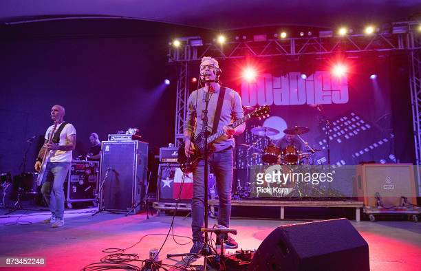 Musicians Doni Blair Vaden Todd Lewis and Mark Reznicek of the Toadies perform in concert at Stubb's BarBQ on November 10 2017 in Austin Texas