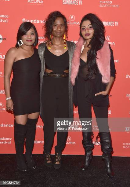 Musicians Dorothy Cuyler Carla Cuylear and Natasha Cuylear attend The King Premiere during the 2018 Sundance Film Festival at The Marc Theatre on...
