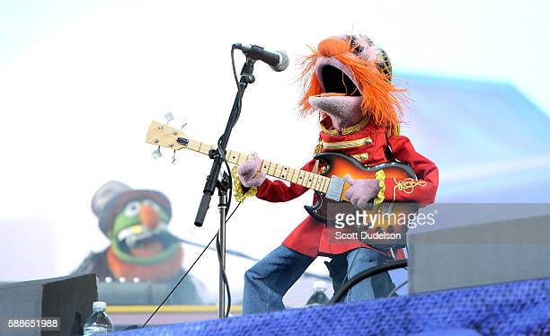 Musicians Dr Teeth and Janice of the Muppets perform onstage with Dr Teeth and the Electric Mayhem at Golden Gate Park on August 7 2016 in San...