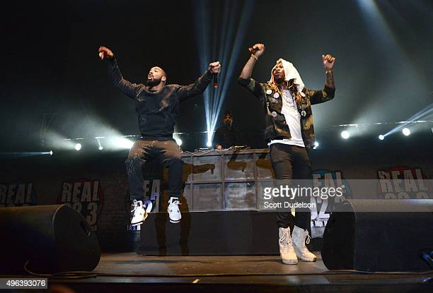 Musicians Drake and Future perform onstage during REAL 923's 'The Real Show at The Forum on November 8 2015 in Inglewood California