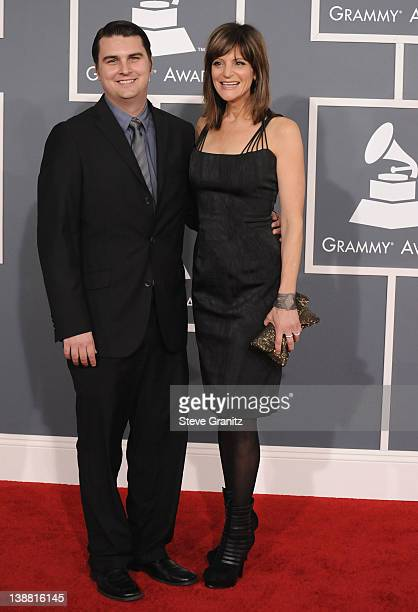 Musicians Drew Pearson and Anne Preven arrive at The 54th Annual GRAMMY Awards at Staples Center on February 12 2012 in Los Angeles California