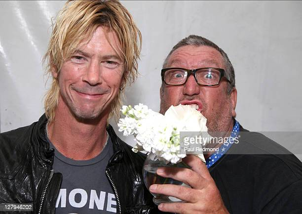 Musicians Duff McKagan of Guns n Roses and Steve Jones of The Sex Pistols attend The 7th Annual Johnny Ramone Tribute at Hollywood Forever on October...