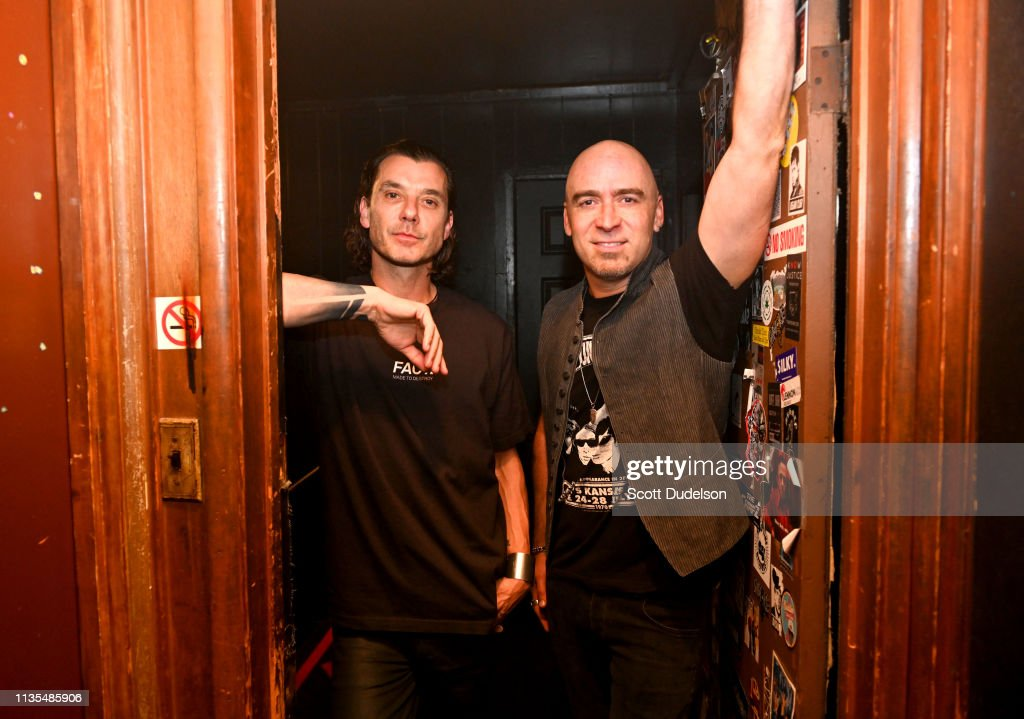Musicians Ed Kowalczyk of the band +LIVE+ and Gavin Rossdale