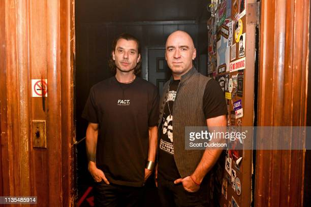 Musicians Ed Kowalczyk of the band LIVE and Gavin Rossdale of the band Bush attend a private concert to launch their upcoming 25th Anniversary Summer...