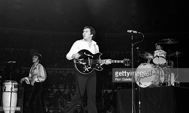 Musicians Eddie Brigati Gene Cornish and Dino Danelli of The Rascals attend Martin Luther King Jr Benefit Concert on June 28 1968 at Madison Square...