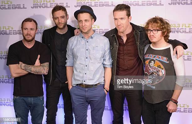 Musicians Eddie Fisher, Brent Kutzle, Ryan Tedder, Zach Filkins and Drew Brown of OneRepublic attend 93.3 FLZ's Jingle Ball 2012 at Tampa Bay Times...