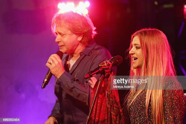 Musicians Eddie Money and Jesse Money perform during AOL Build at AOL Studios on November 30, 2015 in New York City.