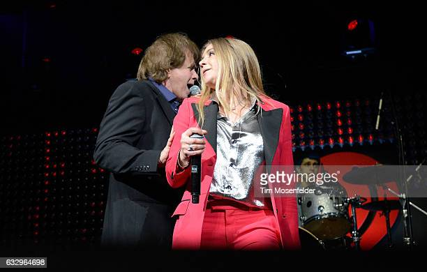 Musicians Eddie Money and Jesse Money perform on stage during the iHeart80s Party 2017 at SAP Center on January 28 2017 in San Jose California