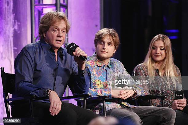 Musicians Eddie Money, Dez Money and Jesse Money attend AOL Build at AOL Studios on November 30, 2015 in New York City.