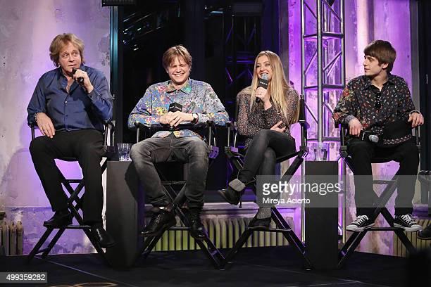 Musicians Eddie Money, Dez Money, Jesse Money and Julian Money attend AOL Build at AOL Studios on November 30, 2015 in New York City.