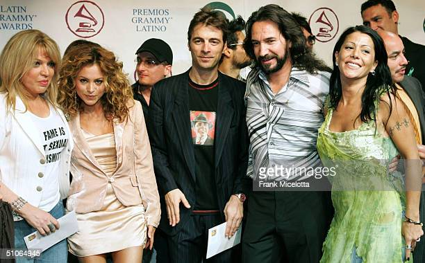 Musicians Ednita Nazario Paulina Rubio Kevin Johansen Marco Antonio Solis and Alejandra Guzman attend the 5th Annual Latin Grammy Nominations at the...