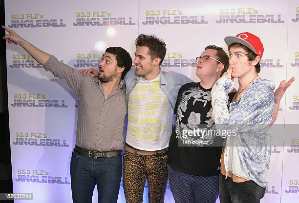 Musicians Eli Maiman, Kevin Ray, Sean Waugaman and Nicholas Petricca of Walk The Moon attend 93.3 FLZ's Jingle Ball 2012 at Tampa Bay Times Forum on...