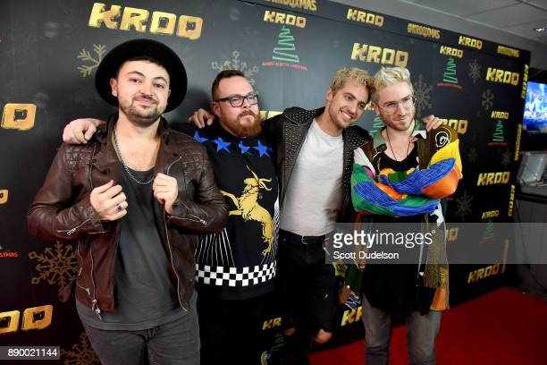 Musicians Eli Maiman Sean Waugaman Kevin Ray and Nicholas Petricca of the band Walk the Moon appear during night two of KROQ Almost Acoustic...
