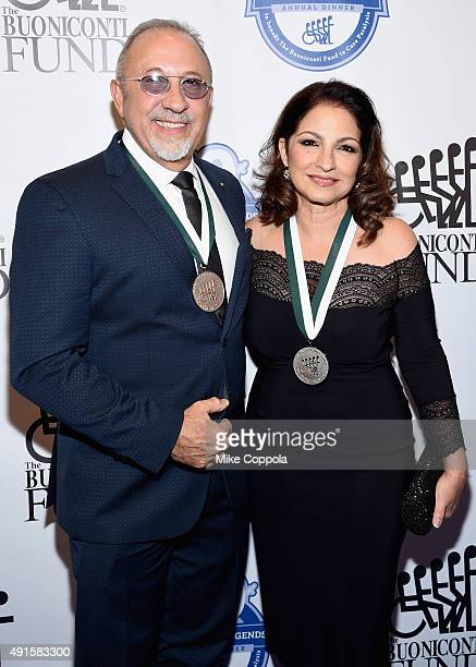Musicians Emilio and Gloria Estefan attend the 30th Annual Great Sports Legends Dinner to benefit The Buoniconti Fund to Cure Paralysis at The...